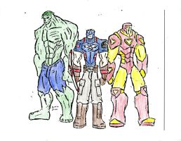 The Avengers: Super Soldiers -colored- 001 by SplendorEnt