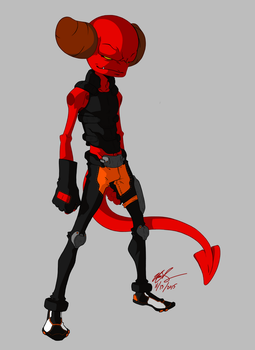 BvE Character Design: D-kid by sketchy-umi