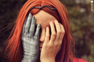 Amy Pond | Weeping Angel by Roy-Ba