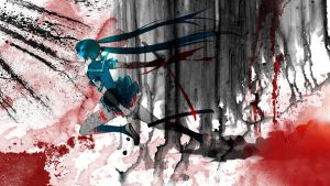 Black Rock Shooter (ninja edit) wallpaper by editingninja