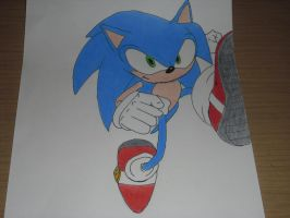 Here Comes Sonic by DarkGamer2011