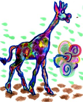 Giraffe Colored in Colors by SonicClone