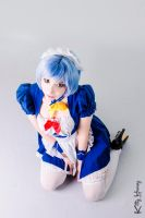 Rei Ayanami Maid cosplay 04 by Kitty-Honey