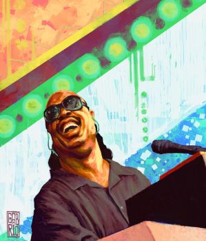 Stevie Wonder by gabrio76