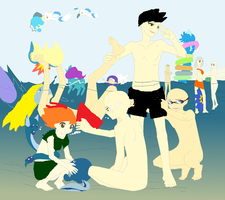 pokemon beach day collab by robloxlittle