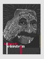 Albert Einstein Typography by HagarNagi