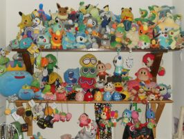 Videogame plushie shelves 2012 by Mastershambler