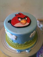 Angry Birds Cake by Spudnuts