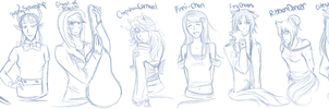 WA: Welcome Fresh Meat Sketches pt 1 by KyrioiB