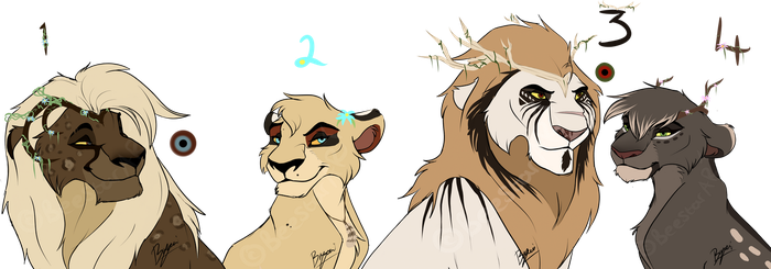 Lion design adopts :OPEN: CLOSED by BeeStarART