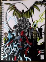 Spider-Man Vs The Sinister Six by samrogers