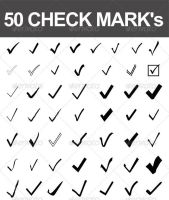 50 Vector Check Marks by nadaimages