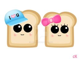 cute Bread by Luvck