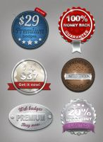 New Web Badges by designercow
