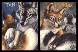 Tani and Nightfox Badges by screwbald