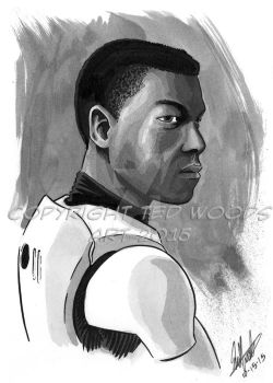 INKtober 2015 Day 15: Finn by tedwoodsart