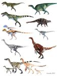 Dinosaur Color Guide by Osmatar