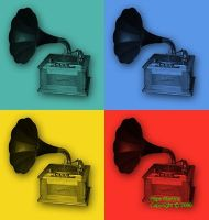 Turntable pop art by art-essencial