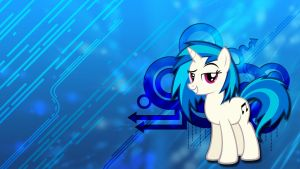 Vinyl Scratch Wallpaper by toruviel