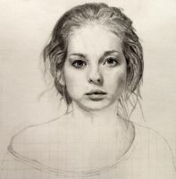 WIP Day 2: Ksenia in Graphite by SHParsons
