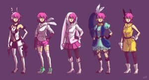Quartz's Ridiculous Outfits by Timidemerald