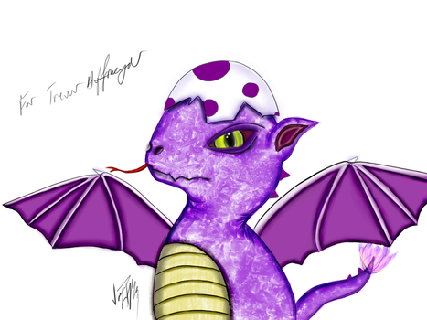 Purple Hatchling (Request) by flavor-of-life4ever