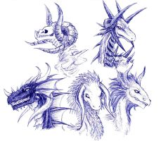 Dragon Heads by CelebrenIthil