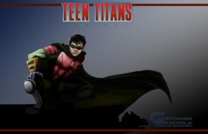 TEEN TITANS PROJECT FAN FILM (RobinIII Color Art) by shakalegend