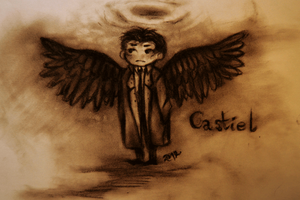 SPN: Castiel Angel by cannorachan