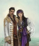 Pirate AU Dorian and Yvad by slugette