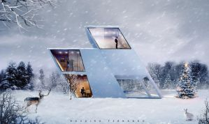 Holiday Winter House by Rozairo