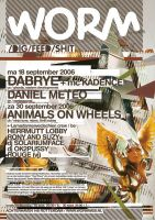 poster dabrye animal on wheels by saladz