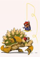 Bowser and Mario by mendigo-amigo