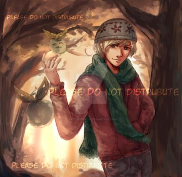 Commission - Autumn Forest (APH Norway) by JazzLassie6020