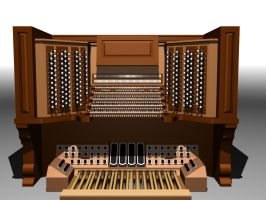 new pipe organ console by SilverWyvern360