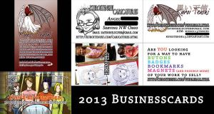 2013 Business Cards by kuroitenshi13