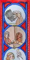 Medieval Miniature Bookmarks: Daily Life by mephetti