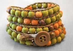 Mala Buddhist Rosary Wrap Bracelet in Green by OneUrbanTribe