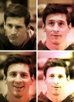 Messi - Faces by Leo10thebest