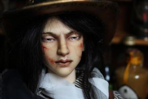 Scarred warrior faceup by Follow-the-Wind
