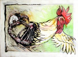 Rooster Self Portrait by jamuck