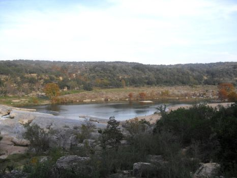 Pedernales Falls Downstream by BurntToShreds