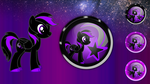 Blackstar icon orb and start orb by MrAlienBrony