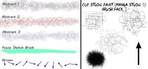 Clip Studio Paint (Manga Studio 5) Brush Pack 7 by Katarina-Kirishiki