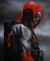 DeadPool Canvas Painting by julydart