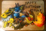 Eeveelution Cake I, Pokemon by Yolandaaaaa