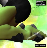Tiffani becomes SheHulk TF 25t by mercblue22