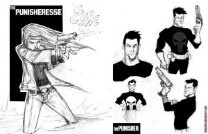 the punisher sketches by hahatem