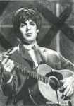 Paul McCartney and his guitar by Tokiiolicious