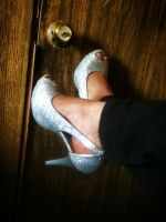 Got some new heels, SPARKLY. Only for a buck too by maywolfe